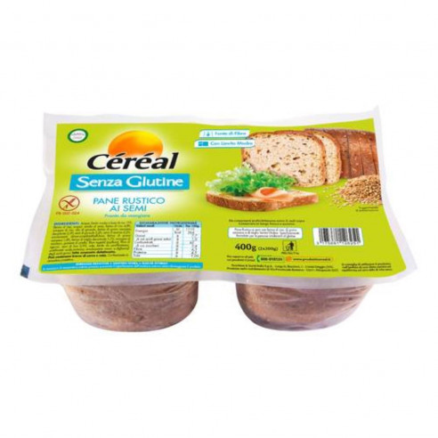 Céréal Rustic Bread with Seeds, 400g (2x200g) Gluten Free
